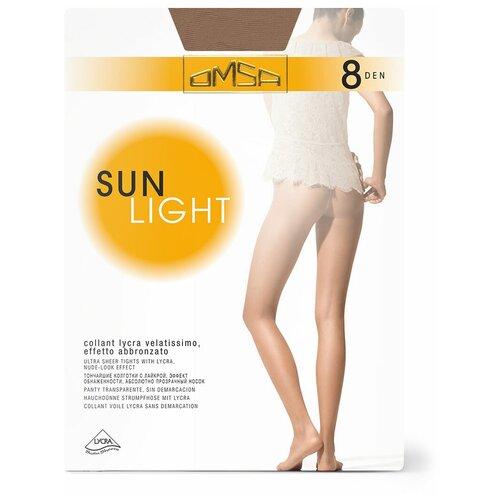 Колготки Omsa Sunlight, 8 den, размер 4-L, beige naturel (бежевый) колготки omsa velour 15 den размер 4 l naturel бежевый