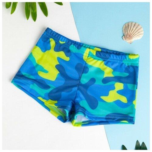 Купить Плавки Kaftan размер 98-104, голубой, Белье и пляжная мода