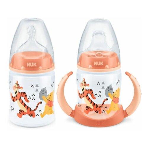 Набор NUK Disney Винни бутылочка 0-6 м + поильник 6-18 мес, оранжевый