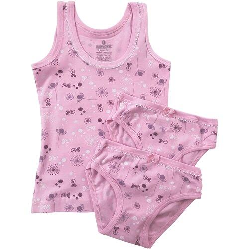 Купить Комплект для девочки (майка 1 шт., трусики 2шт.) Baykar, арт. 4912-5910-2, разм. 1, розовый, рост 98-104, Белье и купальники