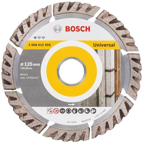 Фото - Диск алмазный отрезной BOSCH Standard for Universal 2608615059, 125 мм 1 шт. диск алмазный отрезной bosch standard for ceramic 2608602201 115 мм 1 шт