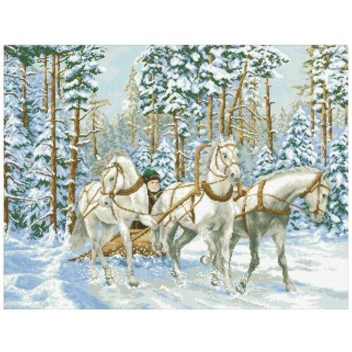 Купить Алмазная мозаика Тройка, картина стразами Паутинка 73x56 см., Алмазная вышивка