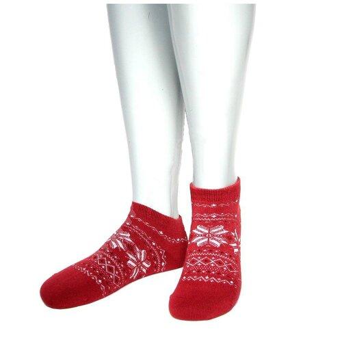 Носки женские Grinston 17D4 теплые укороченные, Красный, 23 (размер обуви 35-37)