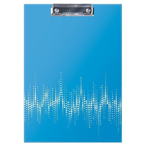 Berlingo Папка-планшет с зажимом Neon А4, ламинированный картон неоновый голубой