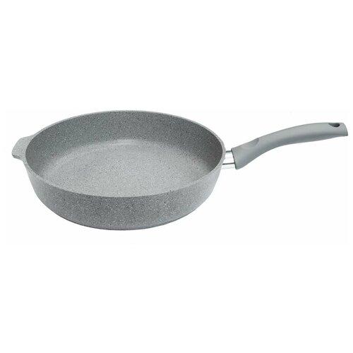 Сковорода Kukmara смс281а, 28 см, светлый мрамор сковорода d 24 см kukmara кофейный мрамор смки240а