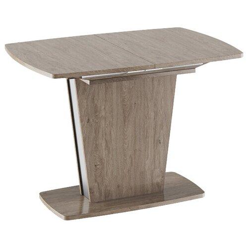 Стол кухонный ТриЯ Ливерпуль Тип 1, раскладной, ДхШ: 110 х 75 см, длина в разложенном виде: 150 см, дуб сонома трюфель/металлик стол обеденный трия ливерпуль тип 1 дуб сонома трюфель металлик