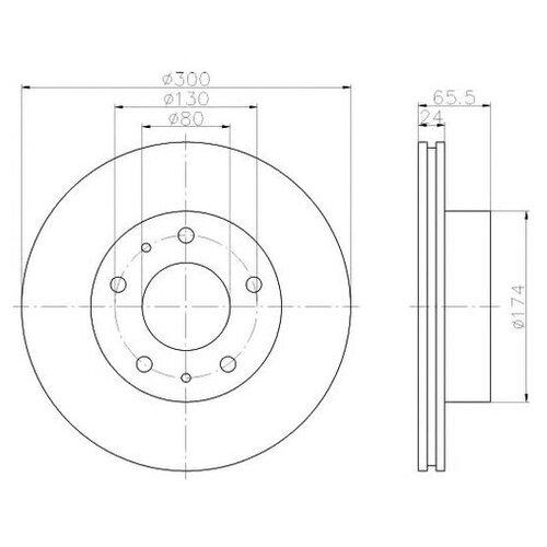 Фото - Тормозной диск Hella 8DD 355 109-021 для Citroen JUMPER; Fiat DUCATO; Peugeot BOXER тормозной диск задний miles k010676 280x16 для citroen jumper fiat ducato peugeot boxer