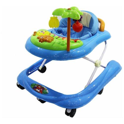 Ходунки Alis Пальма С, 7 силиконовых колес, музыка, игрушки, голубой