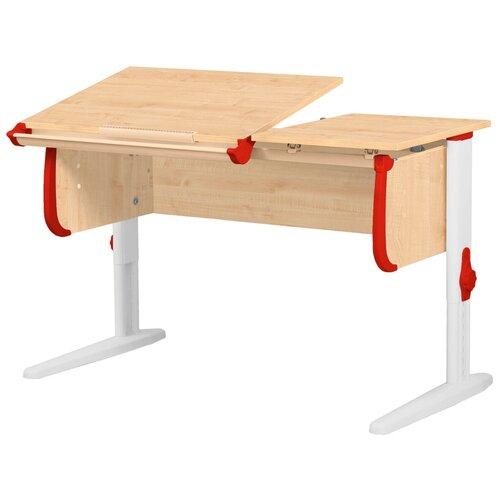 Фото - Стол детский ДЭМИ СУТ 25 120x55 см клен/красный/белый стол дэми white double сут 25 01д 120x82 см клен зеленый бежевый