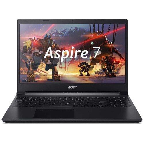 """Ноутбук Acer Aspire 7 A715-42G-R6VJ (AMD Ryzen 5 5500U 2100MHz/15.6""""/1920x1080/8GB/256GB SSD/NVIDIA GeForce GTX 1650 4GB/Endless OS) NH.QBFER.001 черный"""