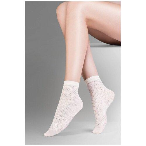 Gabriella Ажурные носочки Mia с мягкой резинкой, белый, S-M-L