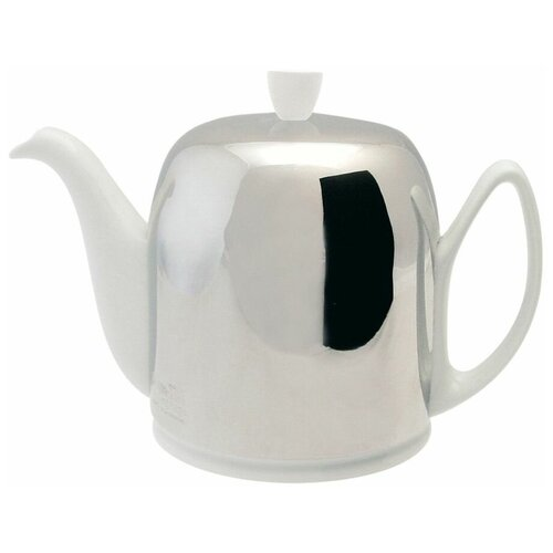Фото - Чайник заварочный Salam White (1 л), с колпаком, с ситечком, на 6 чашек 211989 Guy Degrenne чайник заварочный salam white 0 37 л с колпаком с ситечком на 2 чашки 211987 guy degrenne