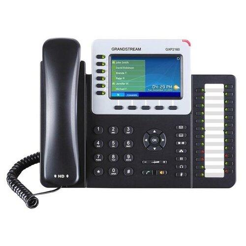 Фото - GXP-2160 Телефон IP Grandstream 6 линий 6 SIP-аккаунтов 2x10/100/1000Mbps цветной LCD PoE USB Bluetooth sip телефон grandstream gxp 1625
