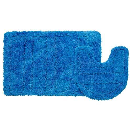 Фото - Набор ковриков для ванной комнаты, 60х90 + 50х50 см, микрофибра, Blue Landscape, IDDIS, 241M590i13 242m590i13 набор ковриков для ванной комнаты 60х90 50х50 см микрофибра beige landscape id