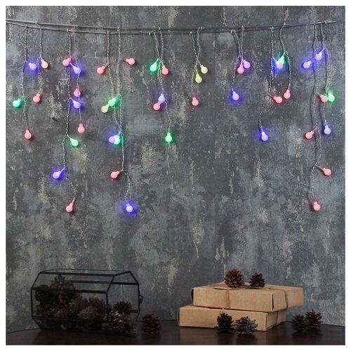 Гирлянда Luazon Lighting Бахрома шарики 3556860 180 см, 48 ламп, разноцветные диоды/прозрачный провод