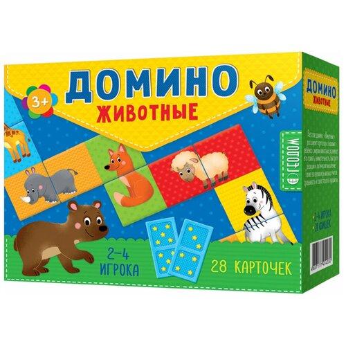 Настольная игра ГеоДом Домино. Животные