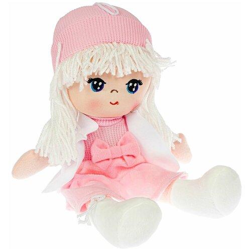 Фото - Кукла мягкая ЛИКА 26 см, белые волосы Oly Bondibon мягкие игрушки bondibon кукла oly ника 26 см