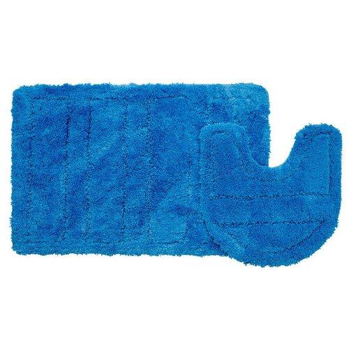Фото - Набор ковриков для ванной комнаты Iddis Blue Landscape 60х90, 50х50 см 241M590i13 242m590i13 набор ковриков для ванной комнаты 60х90 50х50 см микрофибра beige landscape id