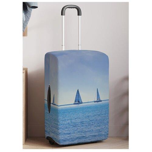 чехол на чемодан 18316 s 55 см Чехол для чемодана JoyArty Парусники на горизонте на молнии, размер S (50-55 см)