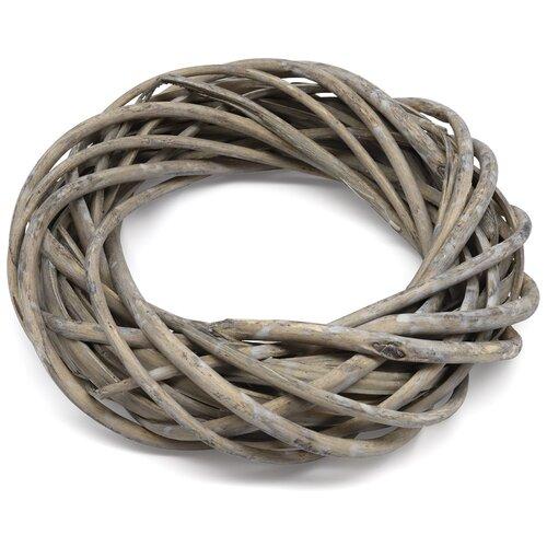 сувенир короб для хранения белые цветы из плетеных ивовых прутьев 45 45 18см 67026062 Венок из ивовых прутьев, серый, d 20см Glorex