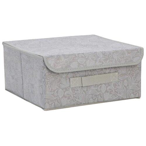 доляна короб для хранения с крышкой 30 х 28 х 15 см фабьен Доляна Короб для хранения с крышкой 30 х 28 х 15 см нея
