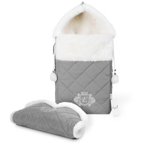 Комплект Esspero Elvis (конверт + муфта) 65 см l-grey конверты для новорожденных esspero зимний конверт и муфта elvis