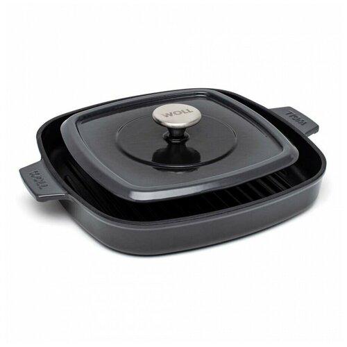 Сковорода-гриль WOLL 24 x 24 см, h-4,5 см арт. 624-2CI-030, чугун сковорода d 24 см kukmara кофейный мрамор смки240а