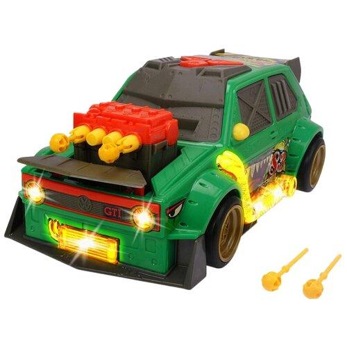 dickie toys машинка трансформер боевой трейлер optimus prime Машинка Dickie Toys VW Golf с залповой установкой 1 GTI (3755003), 26 см, зеленый
