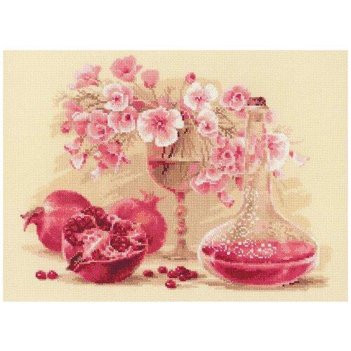 Фото - Риолис Набор для вышивания крестом Розовый гранат 40 x 30 см (1618) риолис набор для вышивания крестом русская охота 60 x 40 1639