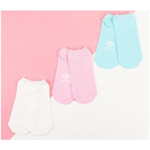 Носки Kaftan Nude 5189701, 3 пары, размер 23-25, белый/голубой/розовый