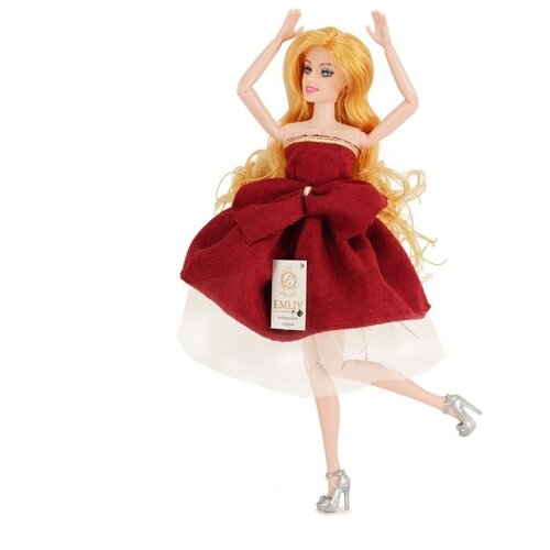 Кукла QIAN JIA TOYS Emily Бордо: Девушка с собачкой, 28 см, HP1110870