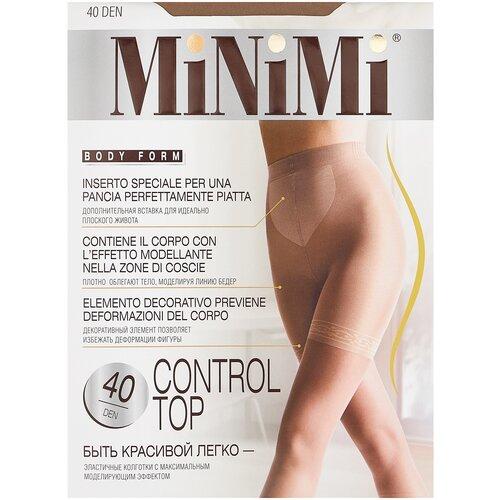 Фото - Колготки MiNiMi Control Top, 40 den, размер 2-S/M, daino (бежевый) колготки minimi slim control 40 den размер 3 m daino бежевый