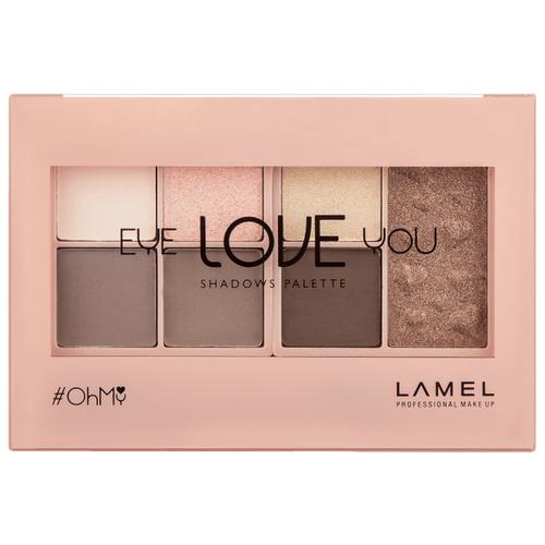 Lamel Professional Палетка теней Oh My Eye Love You 401 lamel professional oh my stamp liner with stamp star