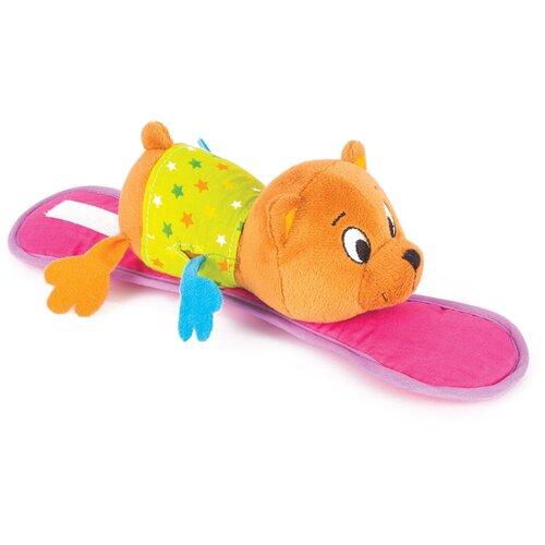 Подвесная игрушка Happy Snail Медвежонок Берни (14HSK01BE) коричневый/розовый недорого