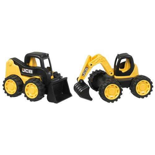 Фото - Набор техники HTI Экскаватор и мини-погрузчик JCB (1416460.UNI), 18 см, желтый/черный погрузчик hti jcb 1416620 желтый