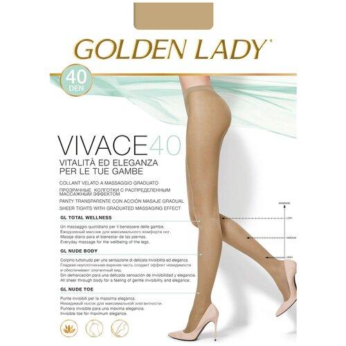 Колготки Golden Lady Vivace, 40 den, размер 4-L, melon (бежевый) колготки golden lady vely 40 den размер 4 l melon бежевый