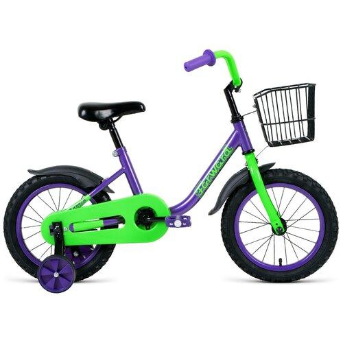 Фото - Детский велосипед FORWARD Barrio 14 (2021) фиолетовый (требует финальной сборки) детский велосипед forward barrio 18 2020 красный требует финальной сборки