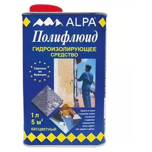 Профессиональная гидроизоляция Alpa Полифлюид, 1 л