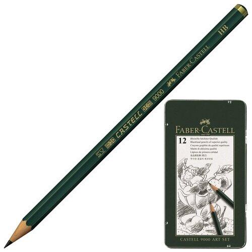 Faber-Castell Карандаши чернографитные Castell 9000 12 штук (119065)