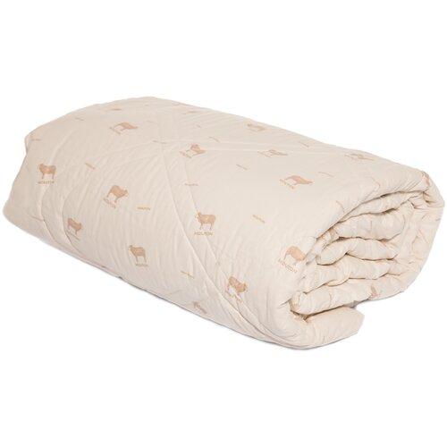 Одеяло овечья шерсть 1,5-сп 140х205 ТИК 100% хлопок