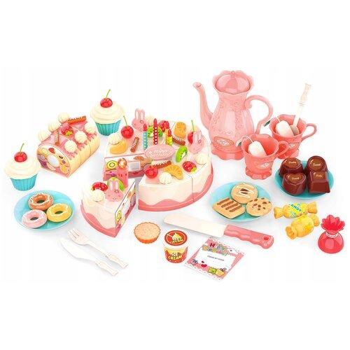 Фото - Набор продуктов с посудой ABtoys Помогаю маме PT-01223 розовый/голубой/белый набор abtoys помогаю маме pt 01342 розовый белый
