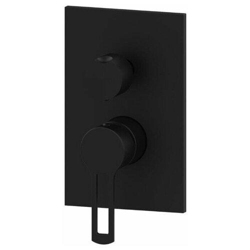 Смеситель для ванны с душем Paffoni Ringo RIN018 color/M черный матовый смеситель для ванны с подключением душа paffoni el015no m однорычажный встраиваемый черный матовый