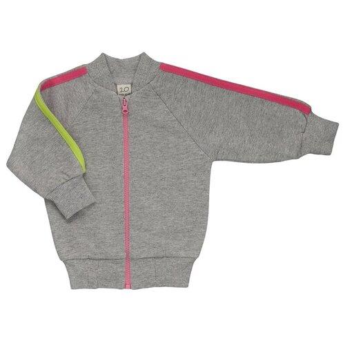 Фото - Кофта для девочки Lucky Child Спорт размер 56-62, серый/розовый кофта для девочки leadgen цвет серый g427011812 171 размер 122