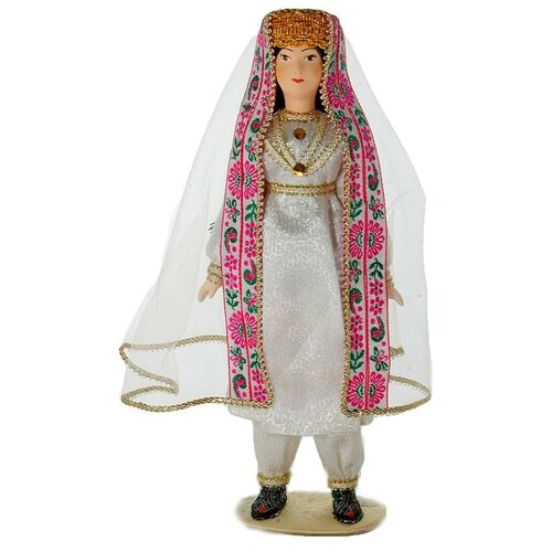 Кукла коллекционная Потешного промысла девушка в свадебном наряде. Таджикистан