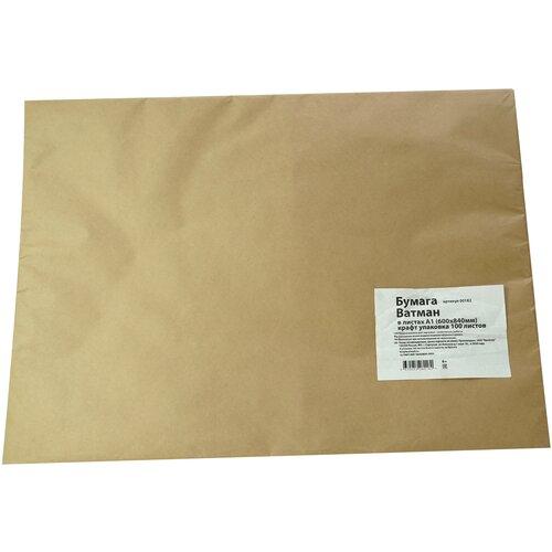 Бумага Ватман А1 600х840 мм 200 гр. 100 листов упаковка крафт бумага