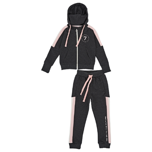Спортивный костюм Mini Maxi размер 104, черный/меланж
