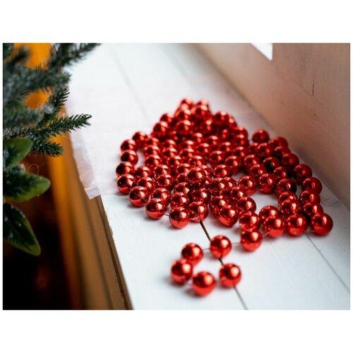 Бусы пластиковые гигант, цвет: красный, 20 мм, 2,7 м, Kaemingk 001711