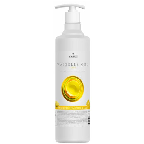 Pro-Brite Vaiselle Gel Lemon Гель д/мытья посуды Лимон с витамином Е 500мл. гель для мытья посуды mama lemon лимон natural lemon fragrance 600 мл