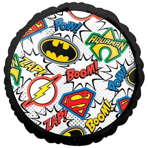 Воздушный шар круг Лига справедливости Эмблемы, 46 см