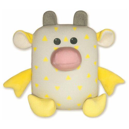 Купить Мягкая игрушка-антистресс Штучки, к которым тянутся ручки Бык Кроха , 22см, желтый, Мягкие игрушки
